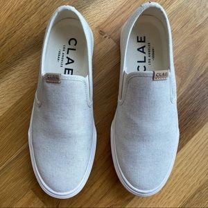 CLAE Porter shoe in eggnog organic canvas